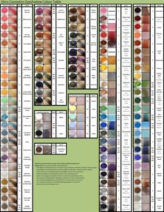 Swatch chart of Shiro Cosmetics eyeshadows, they're missing the new Fullmetal theme!