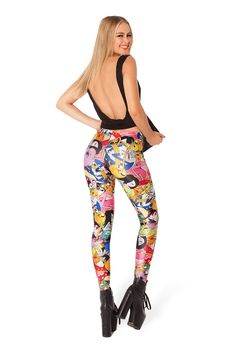 Colorful Cartoon Print Leggings