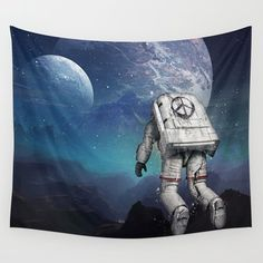 Wall Tapestry featuring Searching Home by Seamless
