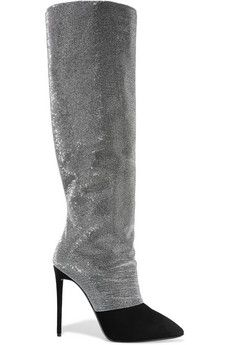 Giuseppe Zanotti Disco embellished suede over-the-knee boots | THE OUTNET