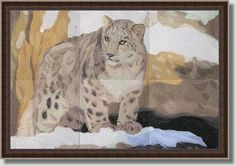 Window - Snow Leopard  by Fred  #30  bfc-creations.com