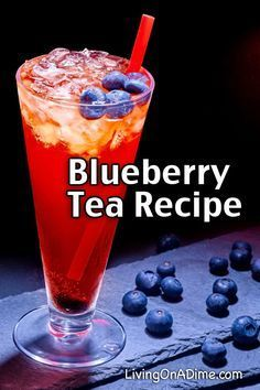 Homemade iced tea is a refreshing drink, especially on hot summer days! These homemade flavored tea recipes give you a lot of variety for tasty variations! Sweet Tea Recipes, Iced Tea Recipes, Berry Tea Recipe, Yummy Drinks, Healthy Drinks, Healthy Smoothies, Homemade Iced Tea, Homemade Recipe, Homemade Breads