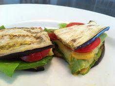 10 gluten free lunch ideas. Slide 9: breadless grilled eggplant sandwich.