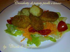 Crocchette di patate piselli e tonno http://blog.giallozafferano.it/chiodidigarofano/crocchette-patate-piselli-tonno