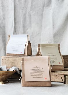 Packaging Design Knuthenlund Organic Flour designed by Wunsch A Moving Experience I've found a cool Bakery Packaging, Cookie Packaging, Food Packaging Design, Soap Packaging, Pretty Packaging, Packaging Ideas, Recyclable Packaging, Simple Packaging, Food Branding