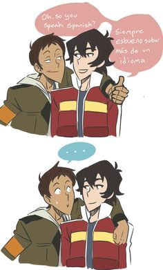 AU where Lance only pretends to know Spanish and only knows a few phrases