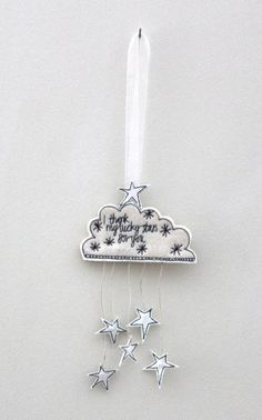 'I thank my lucky stars for you 2' - Hanging Decoration £8.00