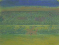 Landscape with Purple Bushes | Richard Artschwager, Landscape with Purple Bushes (2011)