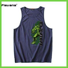 8ee95cf28a Flevans Marvel Avenger Hulk Print Mens Tank Tops Sleeveless Vest Summer  Fashion Men Top Tee Cotton