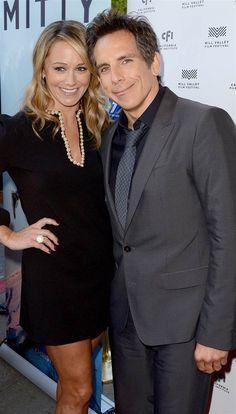 Christine Taylor, Ben Stiller Christine Taylor, Ben Stiller, Bold Stripes, Celebrity Couples, Movie Stars, Cinema, Plaid, Celebrities, Fabric