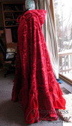 """Quite awhile ago a commentator on this blog left me a link to some red brocade they believed was quite close to Ruby's cloak on """"Once Upo..."""