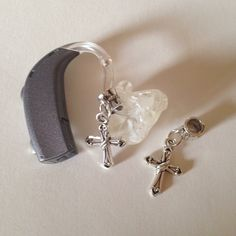 Moni's Blings Hearing Aid Accessories Charms for Deaf Cross Dangle Single | eBay