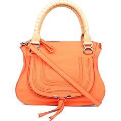 replica chloe marcie medium studded satchel bag caramel