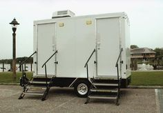 Luxury Portable Toilet Trailer - 26 ft Hamptonian Portable Toilet, Recreational Vehicles, Dallas, Backyard, Construction, The Unit, Luxury, Modern, Wedding