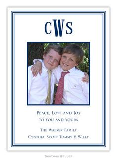Navy Grand Border Photo Cards