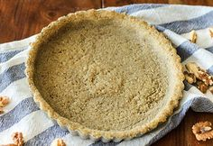 Walnut Pie Crust - a tasty alternative to regular crust made with Diamond Walnuts! Try this recipe for any kind of pie or tart