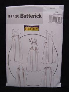 New Butterick B5509 Women Civil War Maid's Apron Costume Pattern Sz s M L | eBay