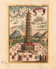 the porcelain tower Mallet, Allain Manesson Der Porcellainer Thurm - Tour de Porcelaine.  Frankfurt, 1719