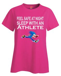 Feel Safe At Night Sleep With An Athlete - Ladies T Shirt – Cool Jerseys