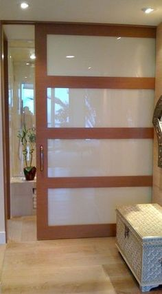 Interior sliding door