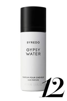 The notes: bergamot, lemon, pepper, juniper berries, vanilla, sandalwood It smells like: The cult favorite citrus-meets-evergreen scent made airier and lighter for hair.  Byredo Gypsy Water Hair Perfume, $62, barneys.com.