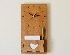 Wood Wall Clock, Wood Large Wall Clock, Rustic Wall Clock, Unique Wall Clocks, Modern Wall Clock, Decorative Wall Clocks, Office Clock