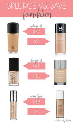 Featuring top picks for both high and low end products, this Splurge vs. Save is all about foundation! Whatever your budget, there's a perfect must-have!