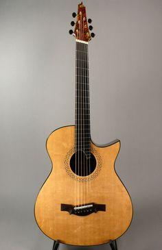 Somogyi 000-12 Rosewood - Brazilian Spruce - Sitka Custom 000 12C Fan Fret Acoustic Guitar