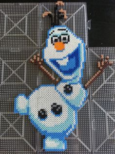 Items similar to Disney's Frozen Olaf Perler Bead Sprite on Etsy