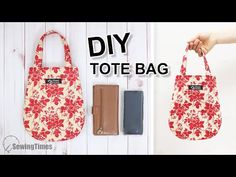DIY PRETTY TOTE BAG Curved Purse Bag Tutorial & Sewing Pattern [sewingtimes] I've shared a pattern to make a bag. Share this video with a lot of people who n. Pencil Case Tutorial, Coin Purse Tutorial, Zipper Pouch Tutorial, Tote Tutorial, Tutorial Sewing, Tote Pattern, Bag Patterns To Sew, Sewing Patterns, Diy Tote Bag
