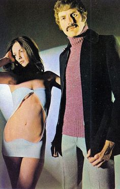 She can't resist the purple turtleneck, 1971