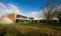Y-shaped German hostel looks at sustainability from all angles