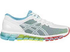 Run hard, land soft. The GEL-Quantum 360™ CM shoe is constructed with 360 degrees of our GEL® Cushioning Technology, balancing high performance and maximum comfort. The color shifting mesh panels prevent forefoot irritation through an optimal fit - helping you power through running and cross-training workouts. Weight: 10.7 oz. Heel Height: 21mm. Forefoot Height: 11mm.