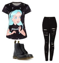 """""""Untitled #112"""" by xxmia-hood-xx ❤ liked on Polyvore featuring The Ragged Priest and Dr. Martens"""