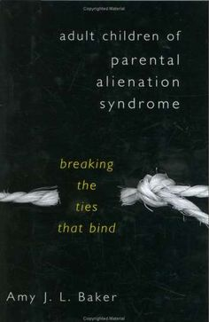 BEST BOOK I'VE READ ON SUBJECT - The Author is an Expert on this awful form of Child Abuse......Adult Children of Parental Alienation Syndrome   a must read. I just read this book on my last trip..could not put it down. I gained great insight on how the manipulating parent operates. So sad to read the sort of things they say and do to our children to make themselves feel better or in control:(