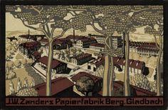 una cartolina degli anni 20 raffigurante una cartiera