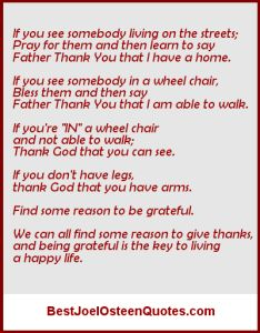 Find A Reason To Be Grateful