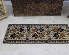 turkish rug oushak rug vintage rug turkey by turkishrugempire Yellow Rug, Vintage Rugs, Bohemian Rug, Turkey, Unique Jewelry, Handmade Gifts, Home Decor, Kid Craft Gifts, Decoration Home