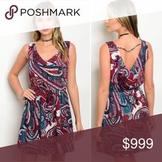 Just in!!! S-L paisley dress Just in!!! Super cute! It's dark here so will take some pics tomorrow. Love it!!! Dresses