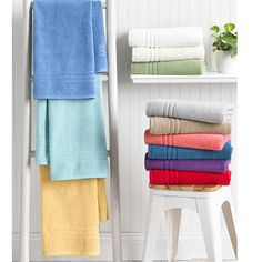 Replace those old towels, shower curtain or bath mat with new and colorful versions from Macy's! You'll love the feel of new, fluffy towels and a refreshed bathroom with just the switch of a shower curtain.