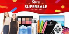Qoo10 Singapore Supersale Stack Up to $100 Worth of Coupons 25-28 May 2017