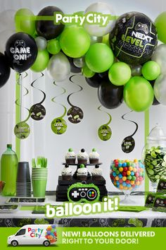 10th Birthday Parties, Birthday Party Games, Birthday Party Decorations, 13th Birthday, Birthday Ideas, Happy Birthday, Xbox Party, Video Game Party, Party Time
