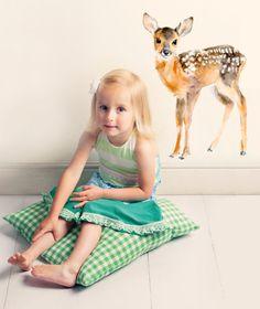 Baby Deer Wand Aufkleber Wandaufkleber Stoff nicht von chocovenyl