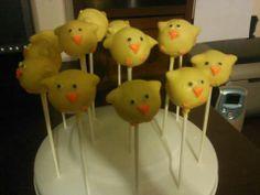Easter cake pop chicks