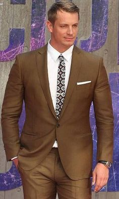 Actor Joel Kinnaman wears Ferragamo tailored suiting to the world premiere of Suicide Squad in NYC.