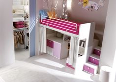 Pink bunk bed composition