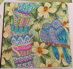 No. 14 complete from Sagolikt. I absolutely adore this book   #adultcoloringbook #adultcolouringbook #adultcolouring #adultcoloring #colouringforgrownups #colouring  #coloringforadults #creativecolouring #hobby #myCreativeEscape #relaxation #stressreliever #mindfulness #colour #colorful #bigkid #fabercastell #polychromos #prismacolor #colouringbook #colourtherapy #lidehalloberg #sagolikt #sagoliktmålarbok #målarbokförvuxna #emelielidehällöberg