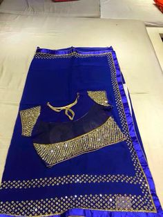 Gorgeous cobalt blue and gold #Saree <3