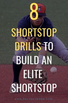 8 Shortstop Drills to Build an Elite Shortstop - Baseball Boom Baseball Tips, Sports Baseball, Baseball Field, Sports Mom, Baseball Dugout, Baseball Tournament, Basketball, Softball Workouts, Softball Drills