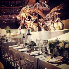 "@Angela Palmer's photo: ""A fantastic wedding reception I worked at #HMNS #jealous #diningwithdinos #wedding"""